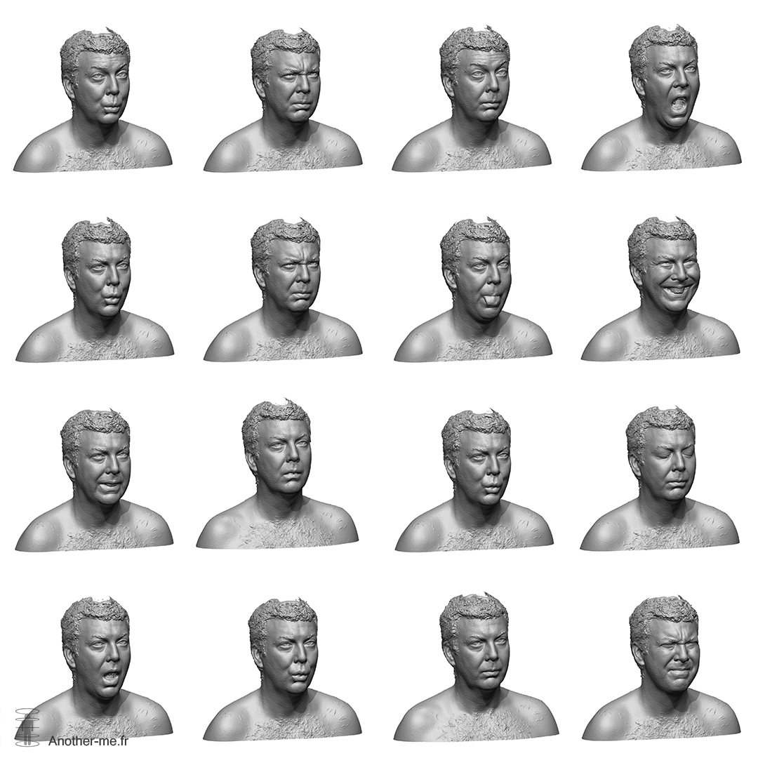 Facial expressions - Raw 3D scans